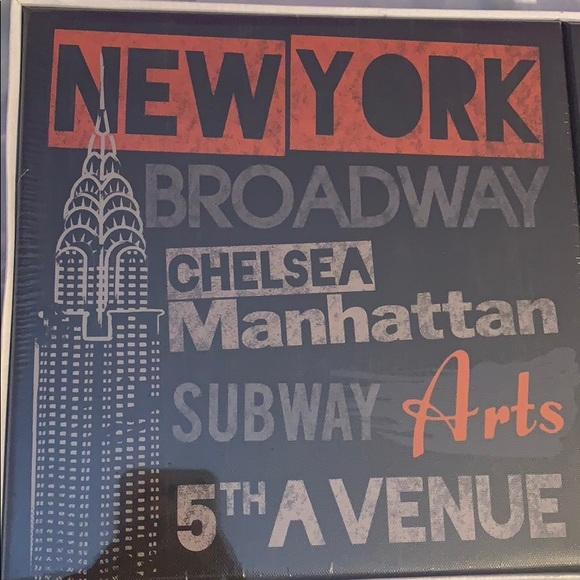 Canvas City Wall Hangings New York Paris London Nwt